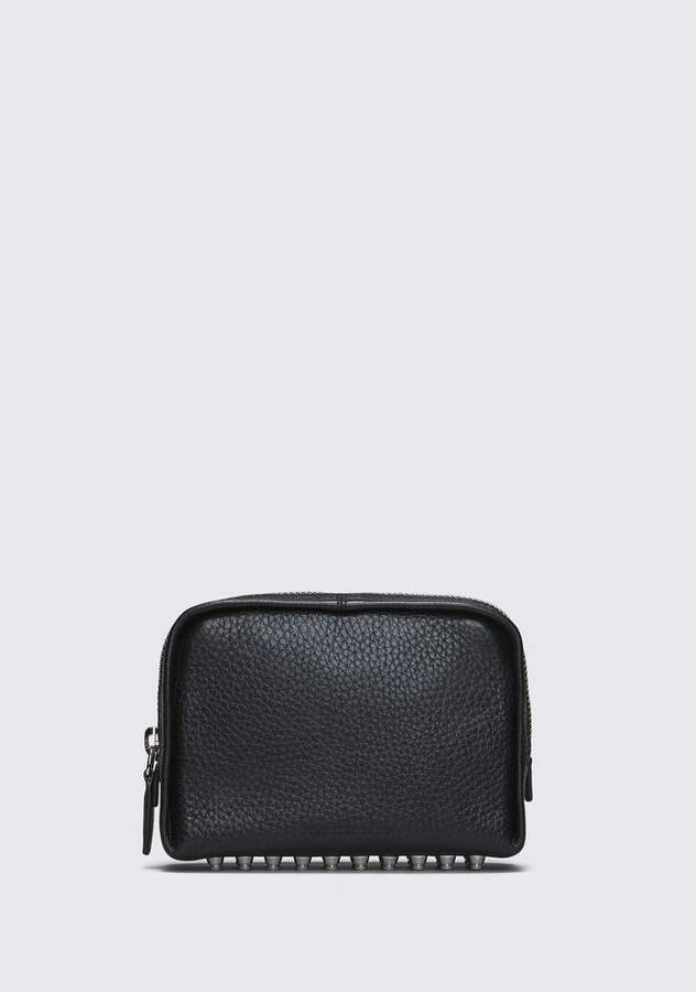 Alexander Wang BLACK FUMO COSMETIC POUCH SMALL LEATHER GOOD