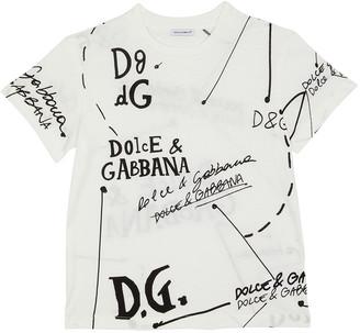 Dolce & Gabbana Boy's Logo Scribble-Print T-Shirt, Size 8-12