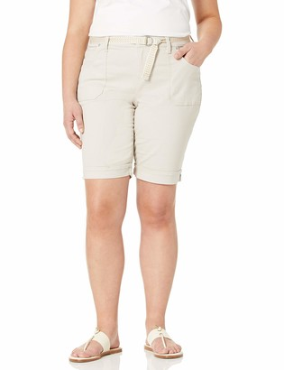 Gloria Vanderbilt Women's Petite Mia Belted Bermuda Short