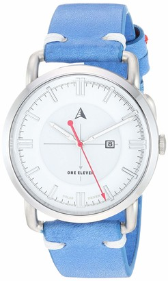 Eleven Paris One Women's SW1 Solar Quartz Stainless Steel and Leather Casual Watch Color: Silver