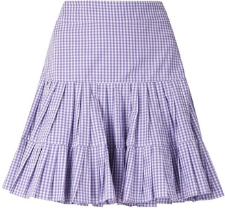 Andrea Bogosian check Paris ruffle skirt