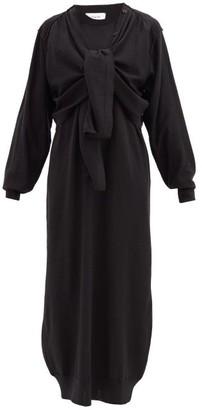 Lemaire Layered Wool-blend Cardigan Dress - Black