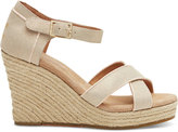Toms Metallic Suede Women's Strappy Wedges