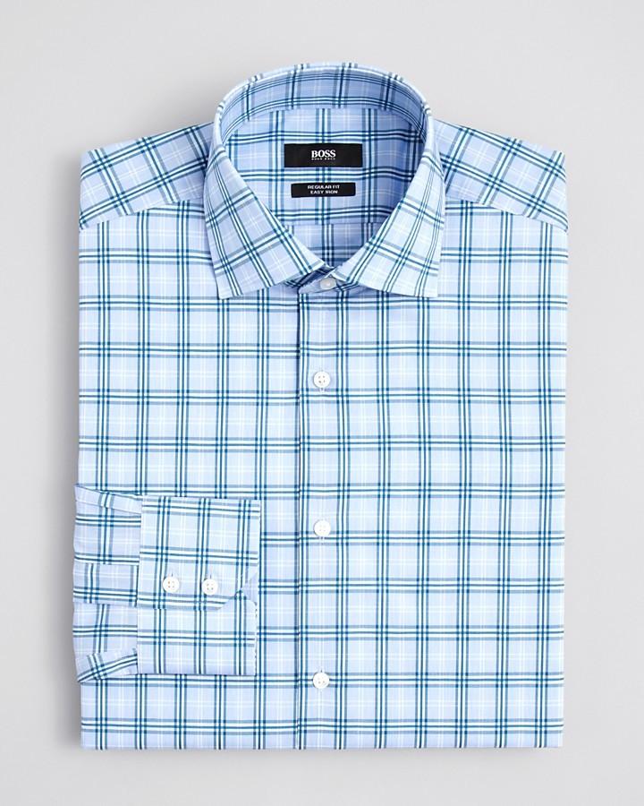 HUGO BOSS Gerald Exploded Check Dress Shirt - Classic Fit