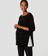 LOFT Maternity Side Ribbed Sweater