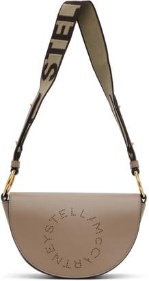 Stella McCartney Taupe Mini Marlee Logo Bag