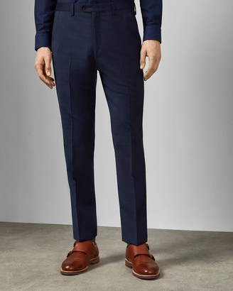 Ted Baker Debonair Check Wool Suit Trousers