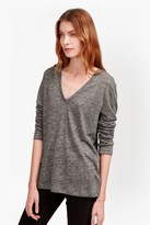 French Connection Laurel Linen Long Sleeved T-Shirt