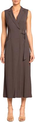Santorelli Lydia Sleeveless Midi Wrap Dress