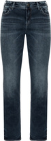 Silver Jeans Plus Size Distressed straight cut jeans