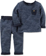 Carter's 2-Pc. Cotton French Terry Top & Pants Set, Baby Boys