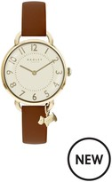 Radley Southwark Park Tan Leather Strap Watch With Iconic Dog Charm