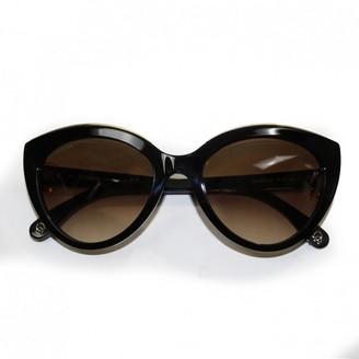 Omega Black Plastic Sunglasses