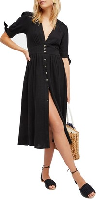 Free People Love of My Life Midi Shirtdress