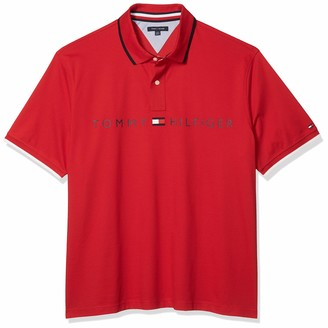 Tommy Hilfiger Men's Big & Tall Short Sleeve Polo in Custom Fit