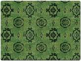 Hadley Table OTTOMAN BOTTLE GREEN Hard Placemats, RECTANGLE, SET OF 4