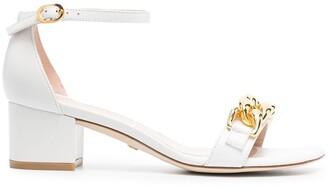 Stuart Weitzman Amelina 50mm chain-embellished sandals