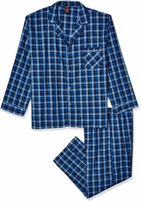 Hanes Big and Tall Men's Woven Plain-Weave Pajama Set