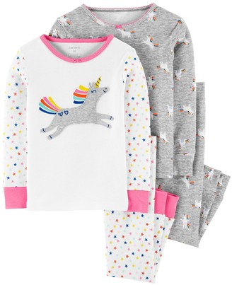 Carter's Toddler Girl 4 Piece Unicorn Pajama Set