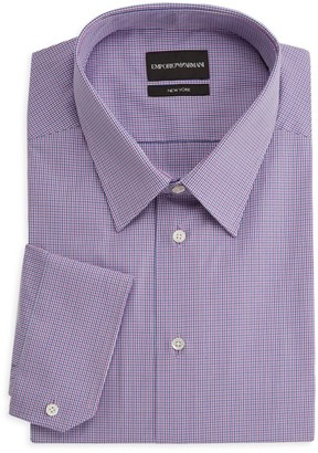 Emporio Armani Striped Cotton Dress Shirt