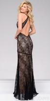 Jovani Fitted Keyhole Back Lace Evening Dress