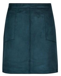 Dorothy Perkins Womens Green Suedette Mini Skirt, Green