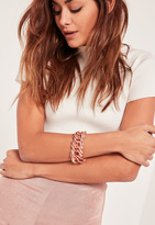 Missguided Chunky Chain Bracelet Rose Gold