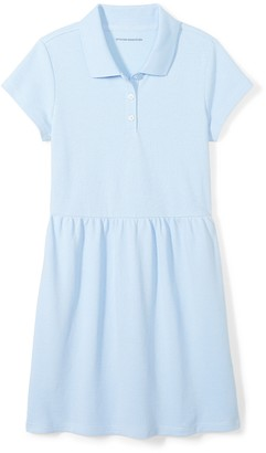 Amazon Essentials Girls' Short-sleeve Polo Dress Scooter Red 4T