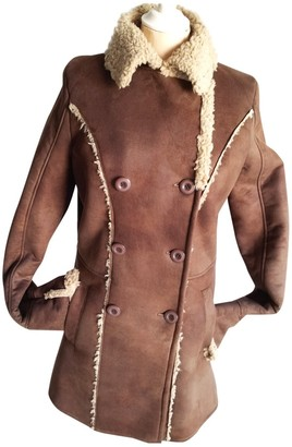 La Redoute Brown Leather Coats