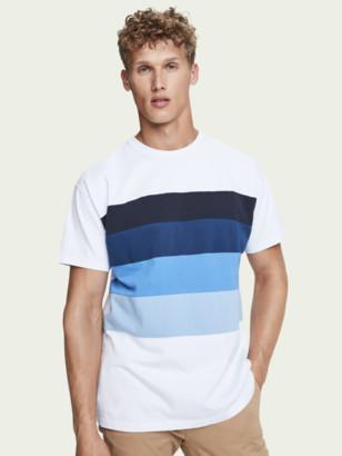 Scotch & Soda Short sleeve cotton t-shirt with chest print | Men