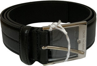 Christian Dior Black Leather Belts
