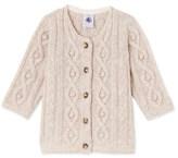 Petit Bateau Baby girls cable-knit cardigan