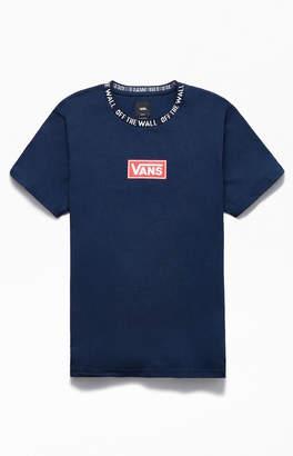 Vans Navy Box Vee Plus Jaquard T-Shirt