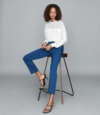 Reiss Joanne - Slim Fit Tailored Trousers in Blue