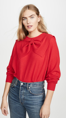 The Great The Cashmere Bow Sweater