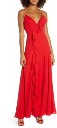Fame & Partners Callais Ruffle Gown
