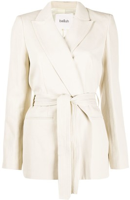 BA&SH Abby tied-waist blazer