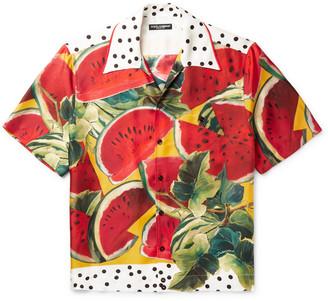 Dolce & Gabbana Printed Silk-Twill Shirt - Men - Multi