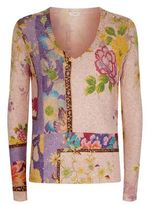 Etro Flower Print V-Neck Jumper