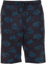 Derek Rose Mountain Range-print cotton pyjama shorts