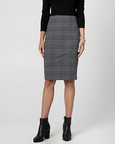 Le Château Glen Check Ponte Pencil Skirt