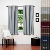 """Best Home Fashion Thermal Insulated Blackout Curtains - Back Tab/ Rod Pocket - Grey - 52""""W x 63""""L - No tie backs (Set of 2 Panels)"""