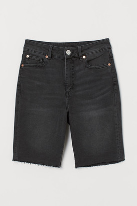 H&M Denim Shorts High Waist - Black