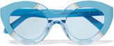 Karen Walker Cat-eye acetate and silver-tone sunglasses