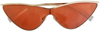 Le Specs Orange Metal Sunglasses