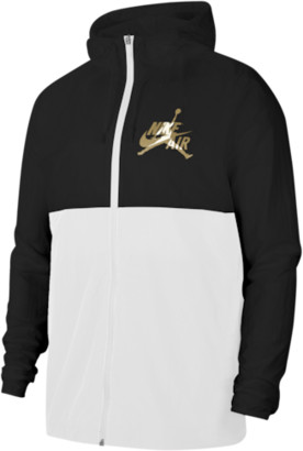 Jordan Classics Windwear Jacket - Black / White Metallic Gold