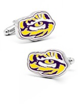 Cufflinks Inc. Men's Cufflinks, Inc. Louisiana State University Tiger's Eye Cuff Links