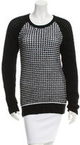 Jason Wu Crew Neck Patterned Sweater