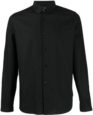 Saint Laurent striped curved collar shirt