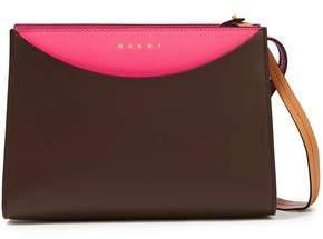Marni Color-block Textured-leather Shoulder Bag